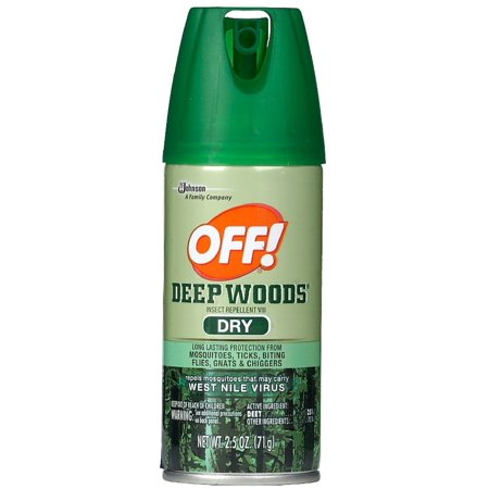 3 Pack - OFF! Deep Woods Dry Insect Repellent Spray 2.5 oz