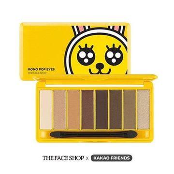 The Face Shop Kakao Friends Mono Pop Eyes Shadow Palette  01 Daily Muzi