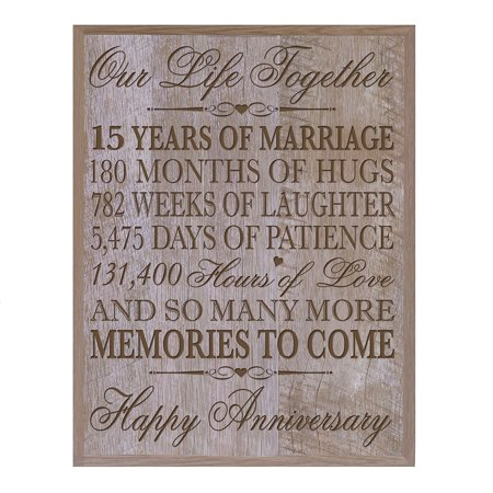 15th Wedding Anniversary Gift For Couplecustom 15th Anniversary