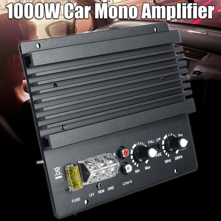 600W 12V 4-8Ohm High Power Mono Car Audio Amplifier Board Powerful Bass Subwoofer Amp For Car Vehicles Truck (Amp Board)