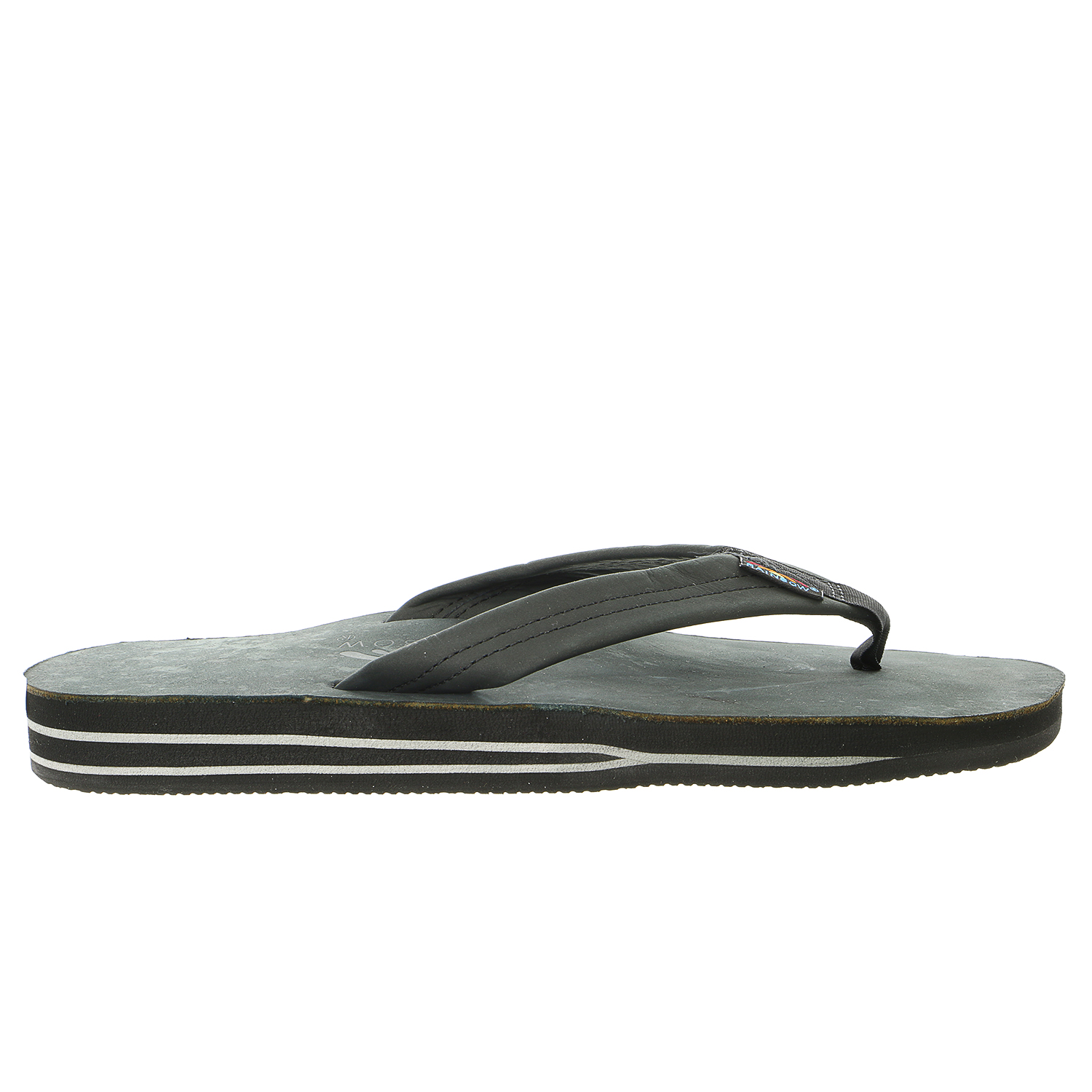 Rainbow Sandals Double Layer Leather Sandal  - Mens