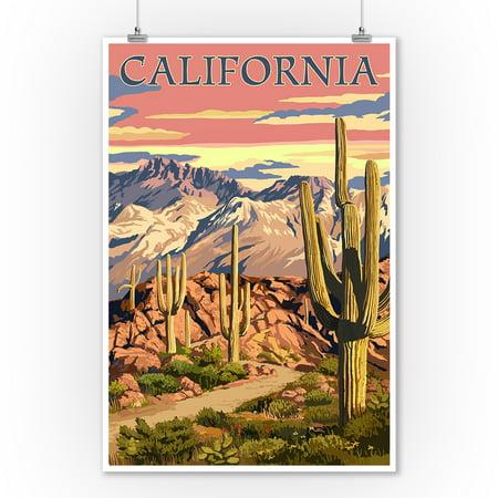 California - Desert Trail Scene - Lantern Press Photography (9x12 Art Print, Wall Decor Travel Poster)](Desert Scenes)