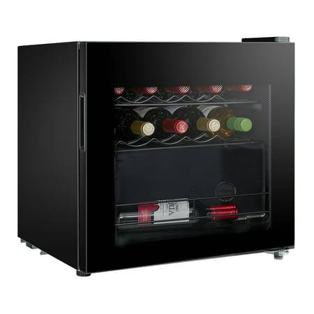 Midea 16-bottle Countertop Wine Cooler, Black WHS-64W1 ()