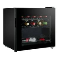 Midea 16-bottle Countertop Wine Cooler, Black WHS-64W1