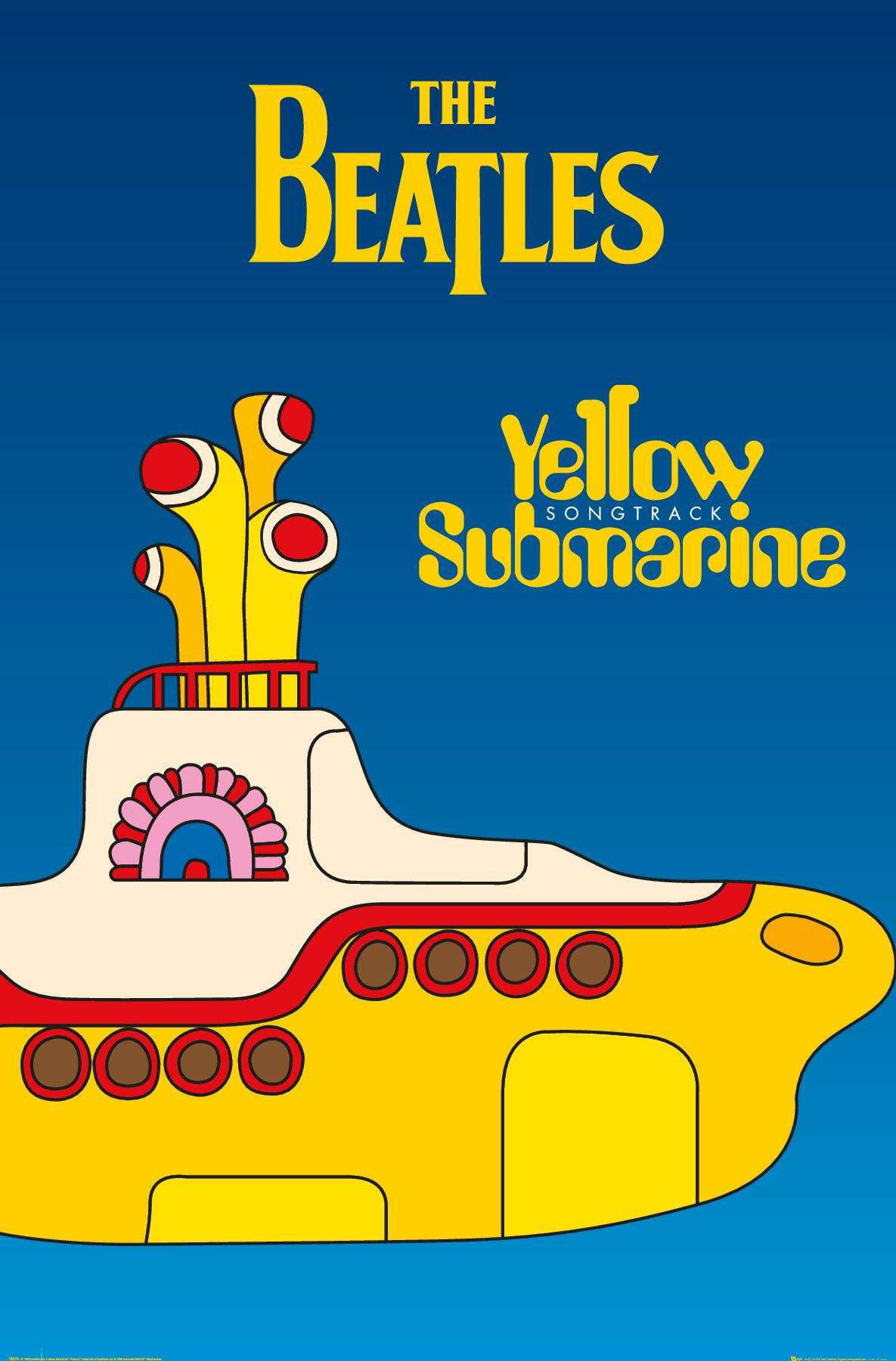 The Beatles - Yellow Submarine (24X36) Poster - Walmart