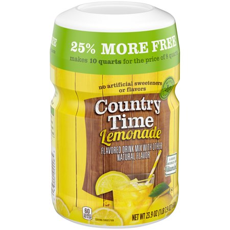 Country Time Yellow Lemonade Powdered Soft Drink 239 Oz Cannister