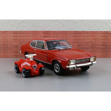 peel n stick poster of bobby car ford capri model car. Black Bedroom Furniture Sets. Home Design Ideas