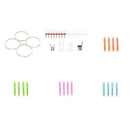 Hubsan Nano Q4 H111  Qty  1  Parts Crash Pack For Nano Quadcopter Motors Propellers Battery Body Drone Combo  Qty  1  All Blue Propeller Blade Set 32Mm Blades Props Quad Parts  Qty  1  Pink  Qty  1  G