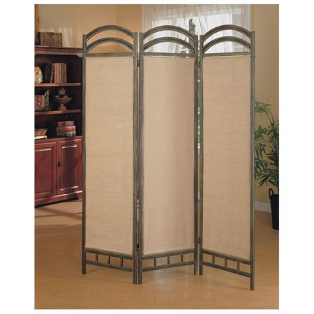 3 Panel Beautiful Metal Frame Room Divider Panel Screen Walmartcom