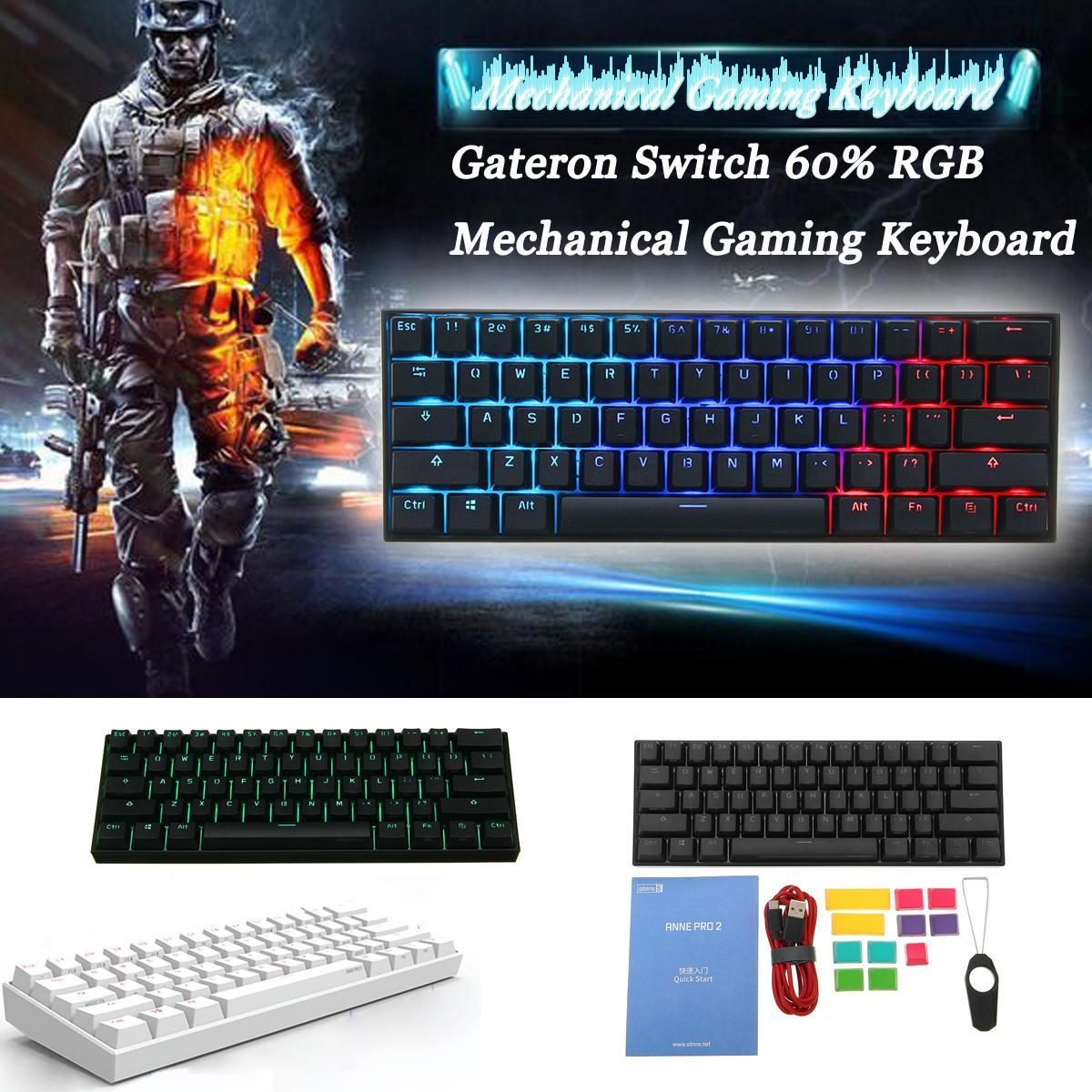 Obins ANNE PRO 2 Gateron Switch NKRO bluetooth4.0 RGB Mechanical Gaming Keyboard