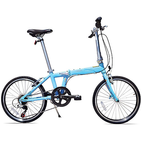 Allen Sports UrbanX 7-Speed Folding Bicycle, Sky Blue