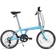 Allen Sports UrbanX 7-Speed Folding Bicycle, Sky Blue