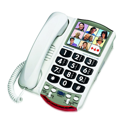 Clarity P300 Picture Memory Amplified Corded Phone w/ Clarity Power & T-coil Technology