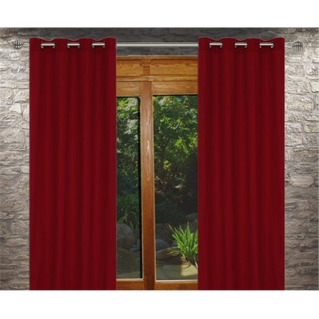 LJ Home Fashions OO269 Karma Window Panels In Lipstick Red, Set Of 2