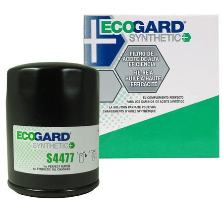 ECOGARD S4477 Spin-On Engine Oil Filter for Synthetic Oil - Premium Replacement Fits Toyota Camry, RAV4, Highlander, Solara, Celica, Matrix, Corolla, MR2 / Scion tC, xB / Suzuki SX4, Aerio,