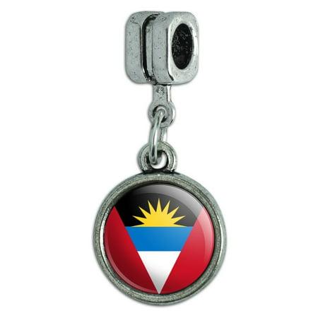 Antigua and Barbuda National Country Flag Italian European Style Bracelet Charm Bead