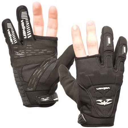 Valken Impact 2 Finger Paintball Gloves - Black - Small
