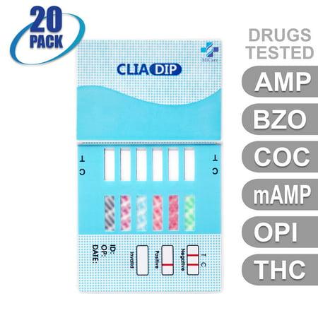 MiCare [20pk] - 6-Panel Dip Card Instant Urine Drug Test - Amphetamine (AMP), Oxazepam (BZO), Cocaine (COC), Meth/Methamphetamine (mAMP/MET), Opiates (OPI), Marijuana/Cannabinoids (THC) (Eek A Mouse Crack Cocaine And Marijuana)