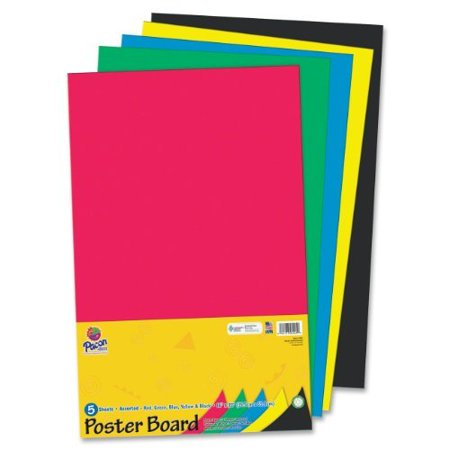 "Pacon Half-size Sheet Poster Board - 14"" X 22"" - Assorted ..."