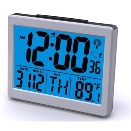 Sonnet Industries T-4652 Atomic Desk Clock with Bright Blue Light and 1.5 in. High
