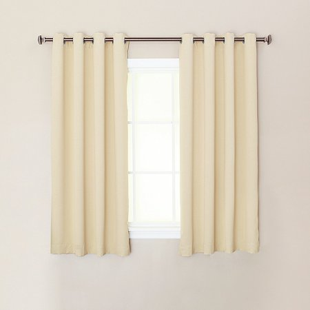 Quality Home Steel Grommet Solid Thermal Insulated Blackout Curtain Single Panel - 52