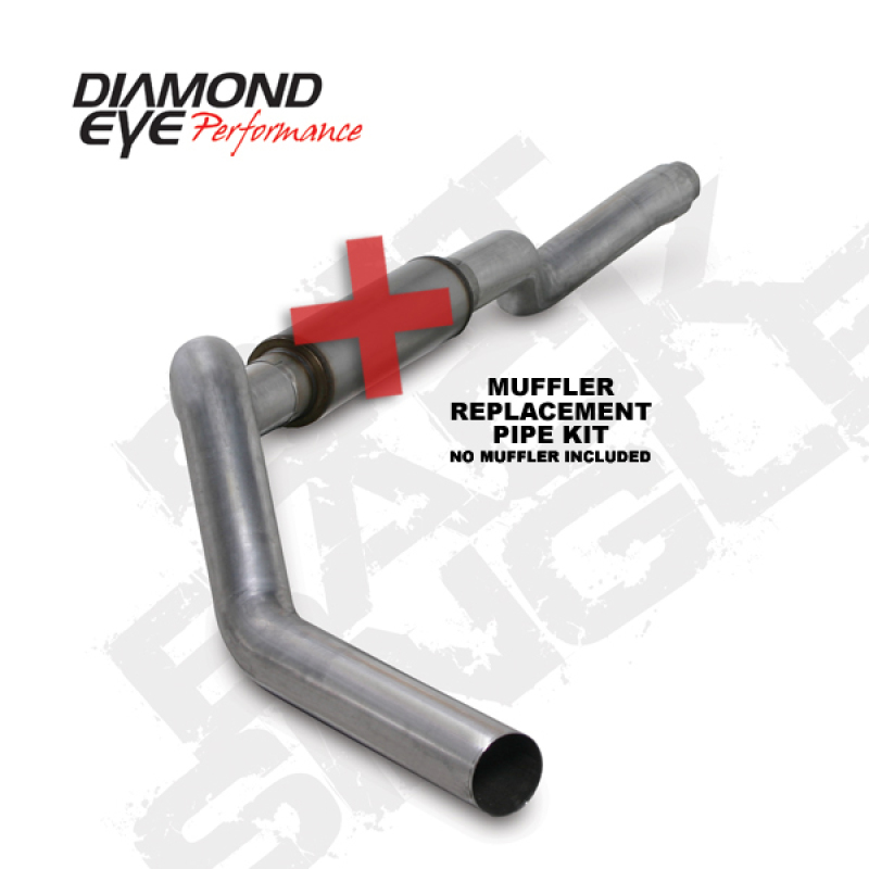 Diamond Eye KIT 5in CB MFLR RPLCMENT PIPE SGL AL: 2006-2007.5 CHEVY 6.6L 2500/3500
