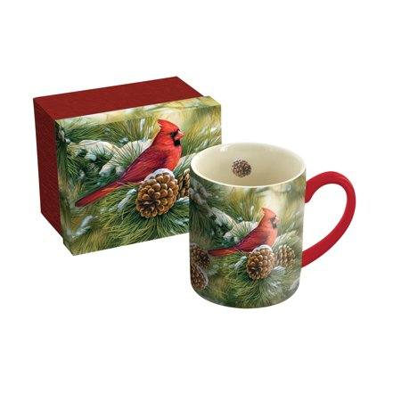 LANG DECEMBER DAWN CARDINAL 14 OZ MUG