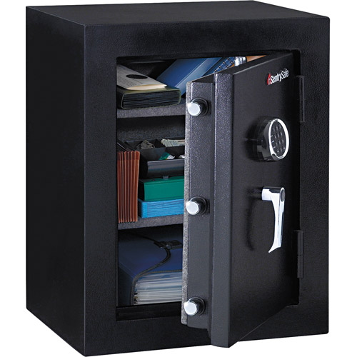 "Sentry Safe Executive Fire-Safe, 21-3/4""W x 19""D x 27-3/4""H, Black"