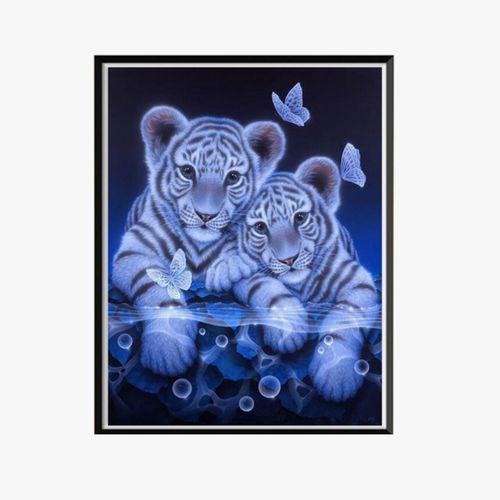 5D DIY Full Drill Diamond Painting Cat Tiger Cross Stitch Kits Art Wall Decor