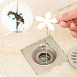 Fancyleo 5 Pcs Flower Hair Cleaner Korean Version Sink Hair Cleaning Hook Bathroom Drain Sewage Sewer Dredging Device