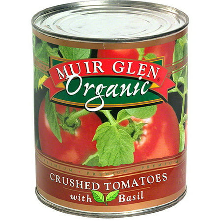 Organic Diced Tomatoes - Muir Glen Organic Crushed Tomatoes With Basil, 28 oz (Pack of 12)