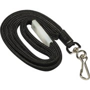 SICURIX, BAU65509, Hook Fastener Breakaway Lanyard, 1 Each, Black