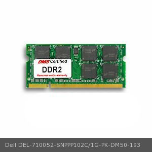 DMS Compatible/Replacement for Dell SNPPP102C/1G-PK Inspiron 13 1GB DMS Certified Memory 200 Pin  DDR2-800 PC2-6400 128x64 CL6 1.8V SODIMM - - 1g 1gb Apple
