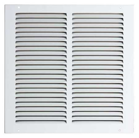 "4MJN3 8x8"" Return Air Grille, White"