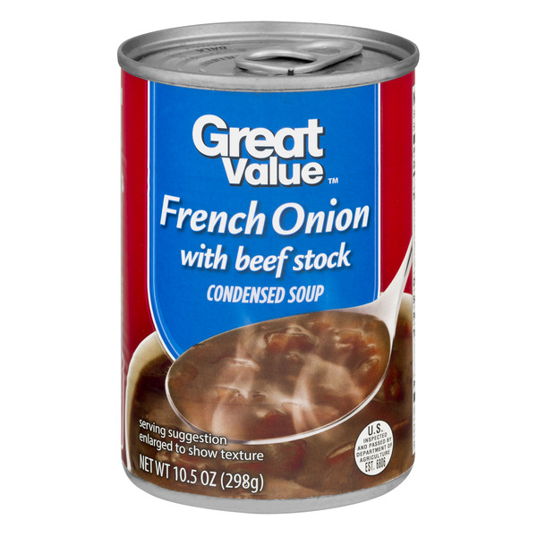 Great Value French Onion with Beef Stock Canned Soup, 10.5 oz