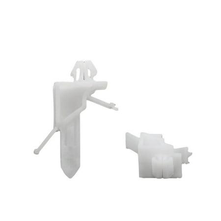 100pc 7x10mm Taille Trou Clip Plastique Roue Arc Couverture Attache Blanc - image 2 de 2