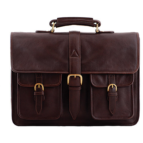 Hidesign Castello Classic Leather Laptop Briefcase