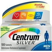 Centrum Silver Men 50+ Multivitamin Tablets, 100 Ct