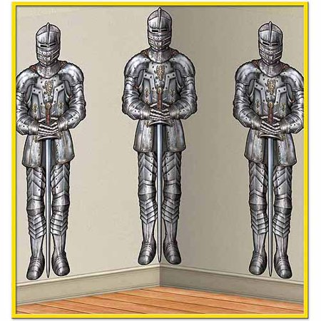 Medieval Wall Of Knights Backdrop Decoration - Medieval Times Decorations