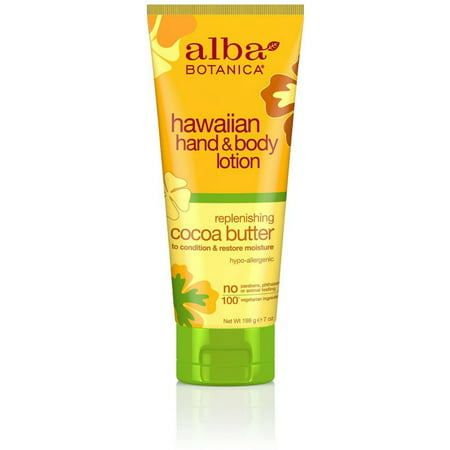 Alba Butter (4 Pack - Alba Botanica Hawaiian Hand & Body Lotion, Replenishing Cocoa Butter 7 oz )