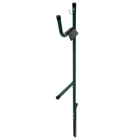 Garden Hose Holder Caddy- Easy Install Outdoor Free Standing Metal Rack for Hose Management, Store and Organize Water Hose in Yard by Stalwart ()