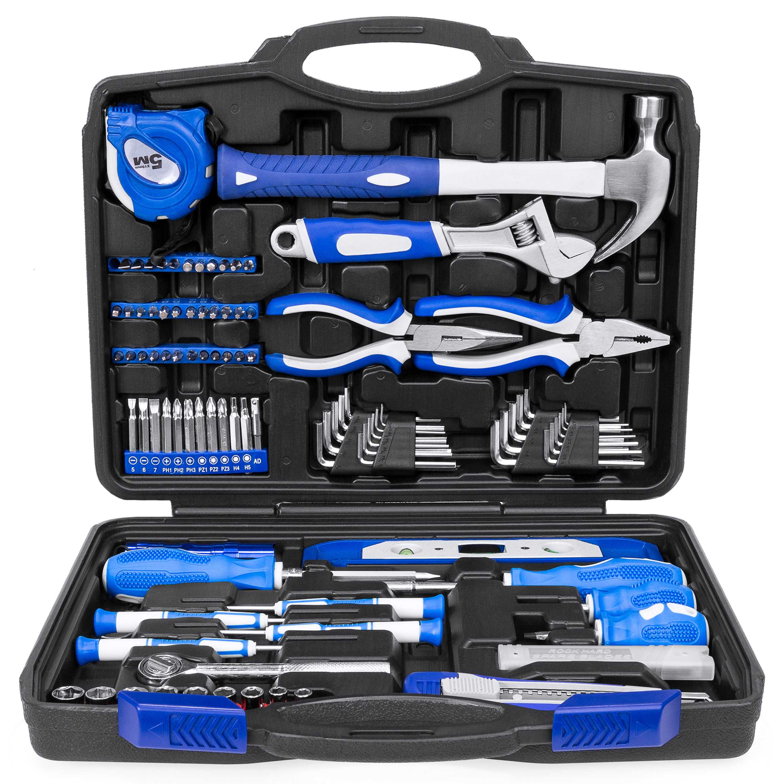 Best Choice Products 108-Piece Home Repair Tool Kit w/ Toolbox Storage Case, Complete Household Set