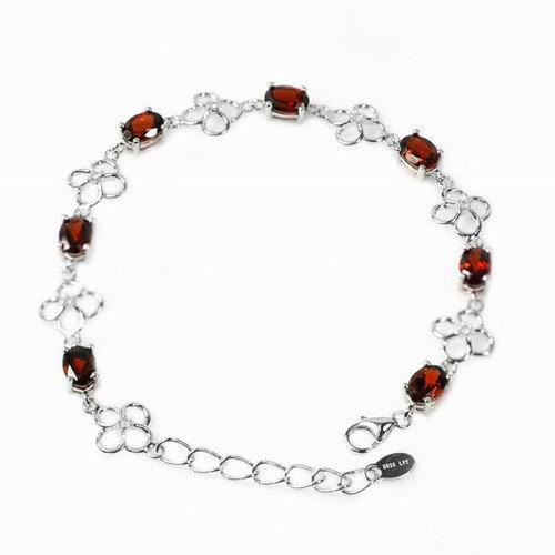 DeBuman Oval Gemstone Bracelet