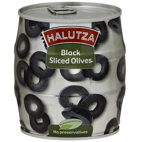 Halutza Sliced Black Olives, 18 oz (Pack of 12)