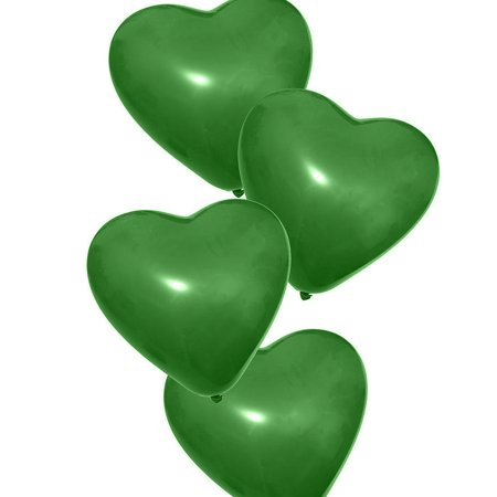 25pcs, The Elixir Party Heart Balloons Decoration Balloons Latex Balloons with Helium Quality for Birthday, Propose, Wedding, and Anniversary Party, Green