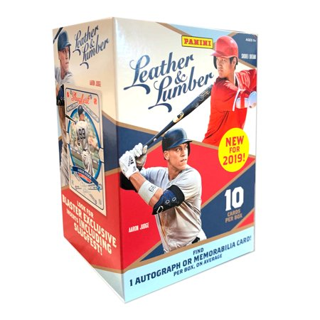 2019 Panini Leather And Lumber Baseball Blaster Box- Vlad Rookie Cards | Auto Signatures | 24 MLB Baseball Trading Cards per Blaster Box (1990 Rookie Traded Trading Card)