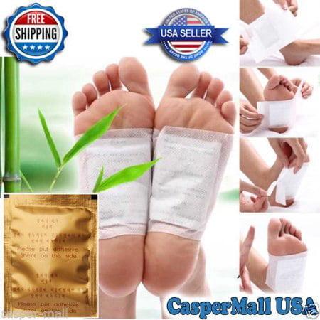 Natural Remedies Detox - 100pcs Bamboo Vinegar Essence Detox Foot Pad Patch with Adhesive Tape