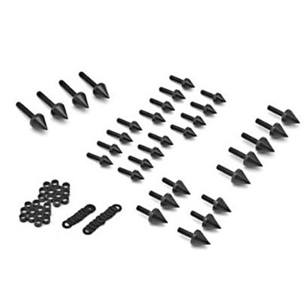 Krator Motorcycle Spike Fairing Bolts Black Spiked Kit For