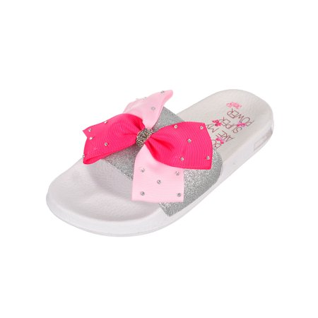 Jojo Siwa Girls' Slide Sandals (Sizes 13 - 5) - Girls Size 13 Sandals