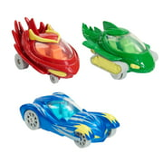 PJ Masks Die Cast Cars 3-Pack, Cat-Car, Owl Glider, and Gekko-Mobile, Die Cast Vehicles, Ages 3 Up, by Just Play